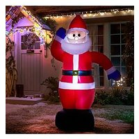 Product photograph showing Inflatable Light Up Santa Outdoor Christmas Decoration