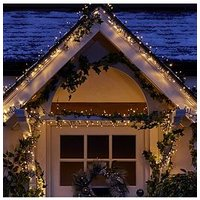 Product photograph showing 480 Warm White Multi Function Indoor Outdoor Christmas Cluster Lights With Timer