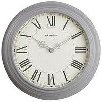 Product photograph showing Round Metal Deep Case 30 Cm Wall Clock Ndash Grey