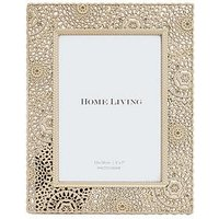Product photograph showing Moroccan Collection Gold Painted Metal Photo Frame Ndash 5 X 7 Inch