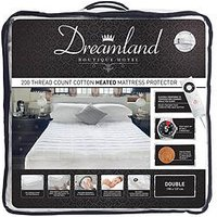 Product photograph showing Dreamland Dreamland Boutique Hotel 200tc Cotton Heated Mattress Protector Db