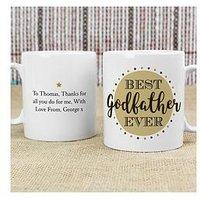 Product photograph showing Personalised Best Godfather Godmother Mug - Godfather