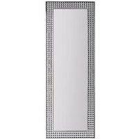 Product photograph showing Large Diamante Effect Full Length Mirror