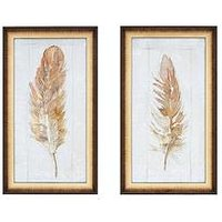 Product photograph showing Gallery Autumn Feather Set Of 2 Framed Wall Art Prints