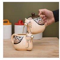 Product photograph showing Llama Teapot And Mug Set