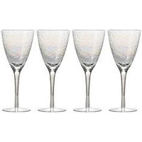 Product photograph showing Set Of 4 Iridescent Wine Glasses