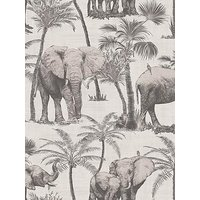 Product photograph showing Arthouse Elephant Grove Charcoal Wallpaper