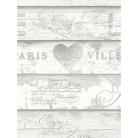 Product photograph showing Arthouse Shabby Chic Wood Neutral Wallpaper