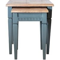 Product photograph showing Hudson Living Bronte Nest Of Tables - Blue