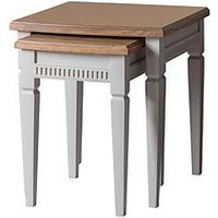 Product photograph showing Hudson Living Bronte Nest Of Tables - Taupe