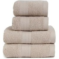 Product photograph showing Essentials Collection 4-piece 100 Cotton 450 Gsm Quick Dry Towel Bale Ndash Pebble