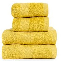 Product photograph showing Essentials Collection 4-piece 100 Cotton 450 Gsm Quick Dry Towel Bale Ndash Saffron