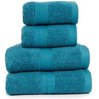 Product photograph showing Essentials Collection 4-piece 100 Cotton 450 Gsm Quick Dry Towel Bale Ndash Teal