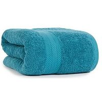 Product photograph showing Essentials Collection 100 Cotton 450 Gsm Quick Dry Jumbo Bath Sheet Ndash Teal