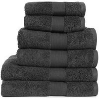 Product photograph showing Everyday Collection Egyptian Cotton 650gsm Towel Range Ndash Dark Steel - 2 Hand Towel
