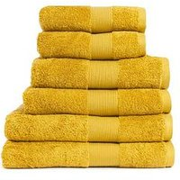 Product photograph showing Everyday Collection Egyptian Cotton 650gsm Towel Range Ndash Mustard - 2 Bath Sheets