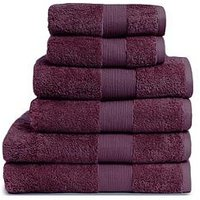 Product photograph showing Everyday Collection Egyptian Cotton 650gsm Towel Range Ndash Plum - 2 Hand Towel