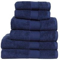 Product photograph showing Everyday Collection Egyptian Cotton 650gsm Towel Range Ndash Navy - 2 Hand Towel