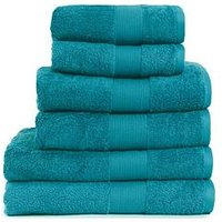 Product photograph showing Everyday Collection Egyptian Cotton 650gsm Towel Range Ndash Teal - 2 Bath Towels
