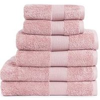 Product photograph showing Everyday Collection Egyptian Cotton 650gsm Towel Range Ndash Pink - 2 Bath Sheets