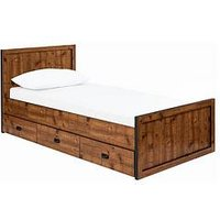 Product photograph showing Jackson Kids Single Storage Bed - Bed Frame With Premium Mattress