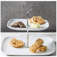 Product photograph showing Waterside Two-tiered Cake Stand