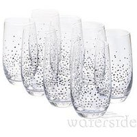 Product photograph showing Waterside Silver Star Hi-ball Glasses Ndash Set Of 8