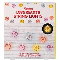 Product photograph showing Fizz Swizzels Love Heart String Lights