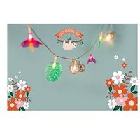 Product photograph showing Fizz Sloth String Lights