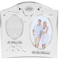 Product photograph showing Photo Frame 2tone S Plated Double Anniversary - 25th 40th 50th