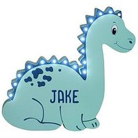 Product photograph showing Personalised Dinosaur Led Wall Light