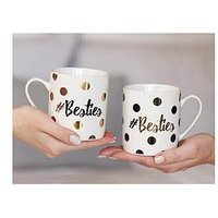 Product photograph showing Creative Tops Ava Amp I Set Of 2 Besties Mugs