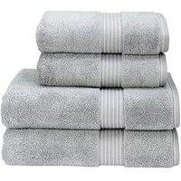 Product photograph showing Christy Supreme Hygro Reg Supima Cotton Towel Collection Ndash Silver - Bath Sheet