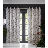 Product photograph showing Oasis Home Bailey Eyelet Curtains - Pink