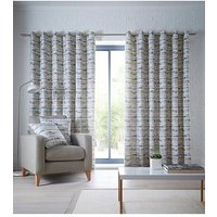 Product photograph showing Studio G Tenby Eyelet Curtains - Ochre