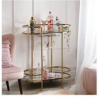 Product photograph showing Michelle Keegan Home Aruba Drinks Trolley