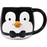 Product photograph showing Mary Poppins Penguin Shaped Boxed Mug