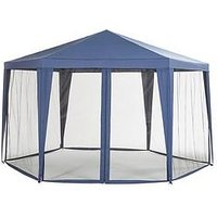 Product photograph showing Hexagon Showerproof Gazebo With Mosquito Net