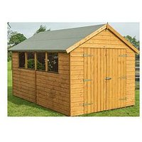 Product photograph showing Rowlinson 12x8 Ft Premier Garden Shed