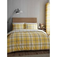 Product photograph showing Catherine Lansfield Kelso Duvet Cover And Pillowcase Set