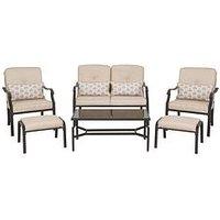 Product photograph showing Ashford 6-piece Cushion Sofa Set Garden Furniture