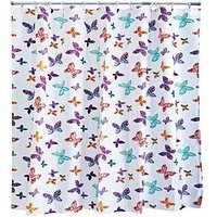 Product photograph showing Aqualona Butterfly Blossom Shower Curtain