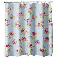 Product photograph showing Aqualona Rosa Shower Curtain