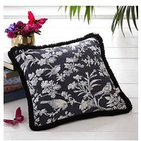 Product photograph showing Oasis Home Amelia Cushion - Charcoal