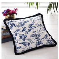 Product photograph showing Oasis Home Amelia Cushion In Indigo