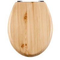 Product photograph showing Aqualona Wooden Toilet Seat