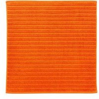 Product photograph showing Christy Prism Towelling Shower Mat Ndash Orangeade