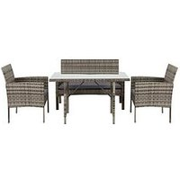 Product photograph showing Hamilton Casual Dining Set Garden Furniture