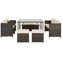 Product photograph showing Coral Bay 8-seater Cube Set Garden Furniture