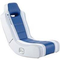 Product photograph showing X Rocker Hydra 2 0 Floor Rocker Gaming Chair - Blue